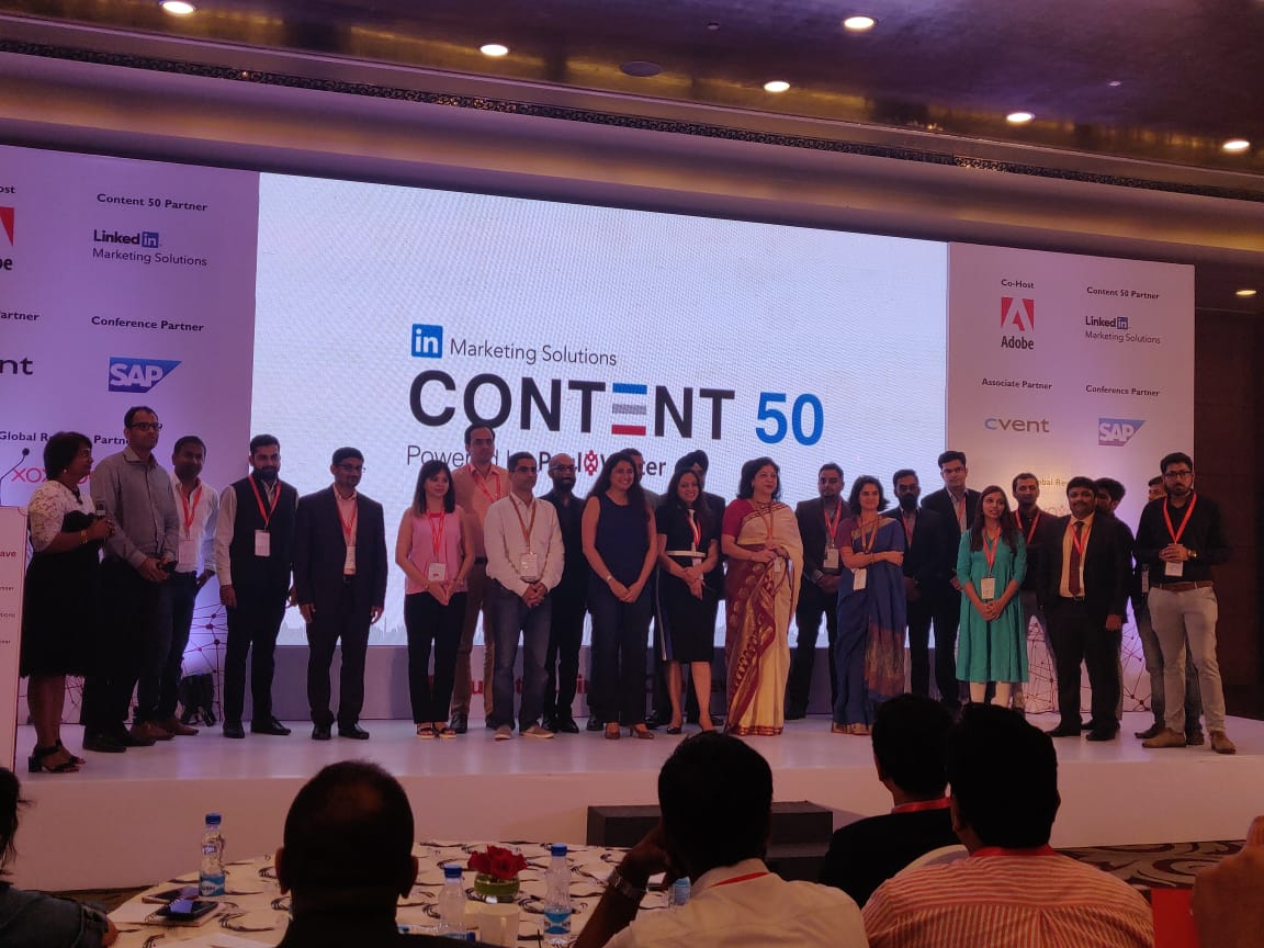 Alok Chander wins Linkedin Top  50 Desi Content Marketers award