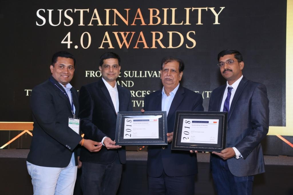 Sterlite Tech wins recognition at the Frost & Sullivan and TERI Sustainability 4.0 Awards 2018
