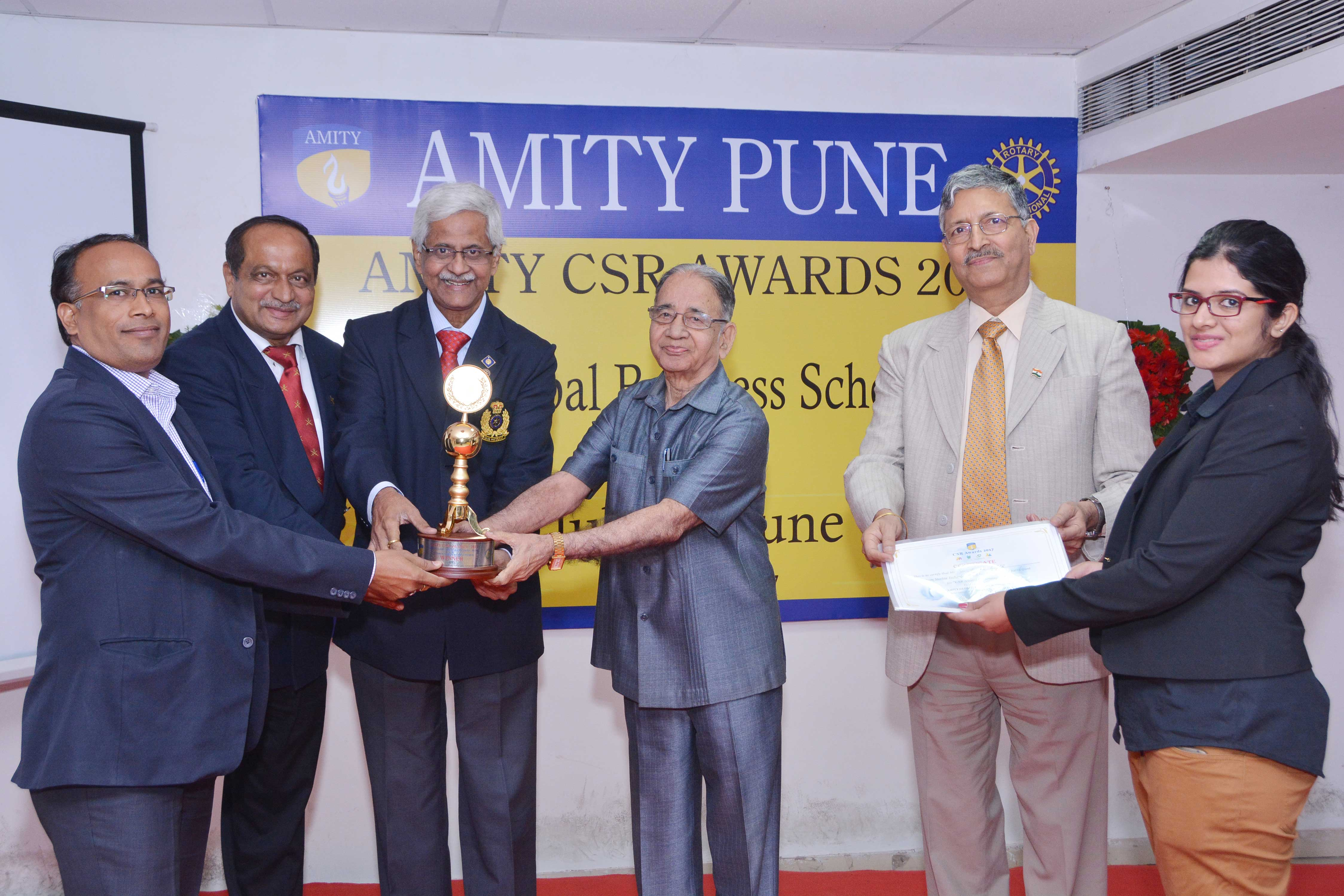 Sterlite Tech won Amity Global Business School CSR Award