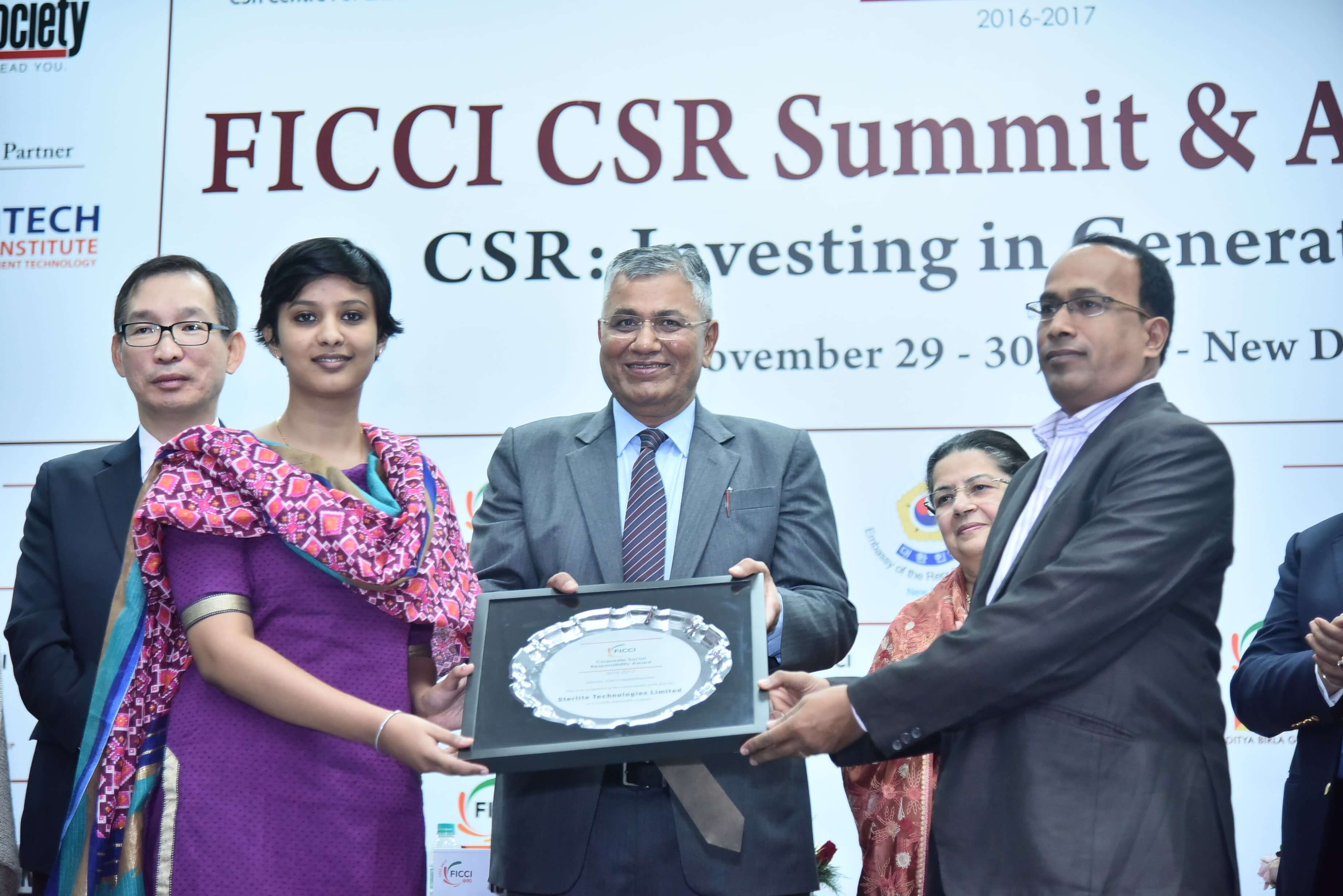 Sterlite Tech wins the Jury Commendation Award for CSR in water-management in Aurangabad