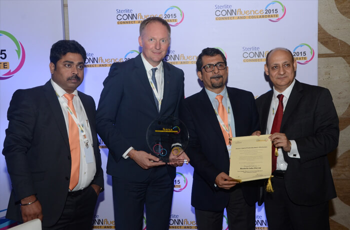 Sterlite Grid President Ajay Bhardwaj with Sterlite Partners at Connfluence 2015